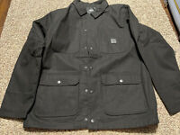 NWT Vans Drill Chore Coat Rowan Black Invisible Hood Jacket Mens Size M Medium