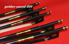 5pc NEW PRO light carbon fiber 4/4 cello bow copper parts 2 black+3 white