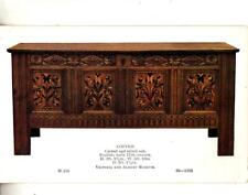 DC29. Vintage Postcard. Carved and inlaid oak coffer. English 17th century.