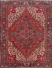 Antique Geometric Red Hand Knotted Oriental Oriental Area Rug 7x10
