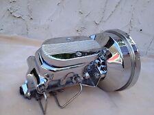 "1957-72 Ford F100 9"" chrome power brake booster master cylinder 4 wheel disc"