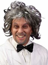 Mad Scientist Wig Grey Old Man Grandpa Doc Brown Rick Sanchez and Morty  Adult