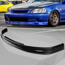 For 1996-1998 Honda Civic Mug-en Style Polyurethane Black Front Bumper Lip Wing