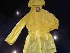 NWT Juicy Couture New Yellow Cotton Summer Hooded Coat Ladies UK Size 10 / 12