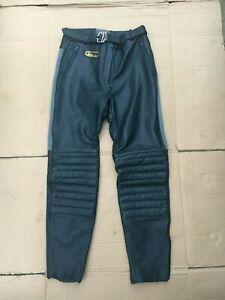 "Bobo Vintage  ladies  Leather Motorbike Trousers UK 10 =  28"" waist (Cbox9)"