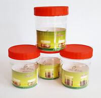 New Plastic Transparent Cylinder Storage Round Jars with Screw Cap Various sizes