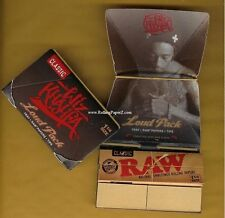 2 PACKS Wiz Khalifa Rolling Papers Loud Pack RAW Artesano 1 1/4 w/Tips and Tray