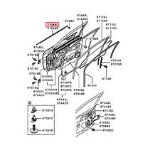 2002-2007 MITSUBISHI LANCER FRONT LEFT DRIVER DOOR MOLDING OUTER OEM MR525755
