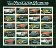 US: 2008 FINS AND CHROME - CARS; Sheet Sc 4353-57; 42 Cents Values, Classic Cars