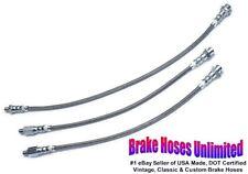 STAINLESS BRAKE HOSE SET Edsel Pacer 1958
