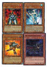 4-Card set: Neo-Spacian Dark Panther_ Aqua Dolphin_FlareScarab_Grand Mole yugioh