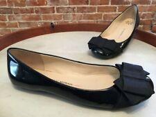 Isaac Mizrahi Megan Black Patent Bow Ballet Flats 7.5 Sale