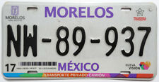 Morelos Used Expired Mexico License Plate NW-89