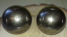 Belle doublette Boules de Pétanque JB Striées 520 G  71 mm.