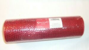 """Deco Poly Mesh Metallic Red 10"""" X 30' Wreaths Bows Trees & More In/out NEW"""