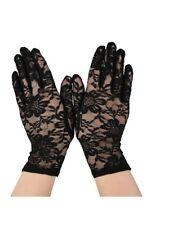 Pizzo Nero Elasticizzato Guanti da polso Goth Halloween Costume Burlesque Madonna