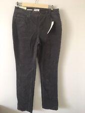 NWT Charter Club Womens Lexington Straight-Leg Corduroy Pants Sz:12 Color:Grey