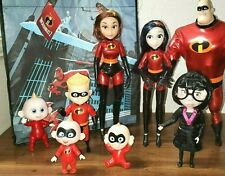 Disney The Incredibles 2 Family Action Figure Articulated Dolls DeluxeCostum