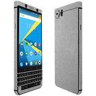 Skinomi TechSkin Brushed Aluminum & Screen Protector for Blackberry KEYone