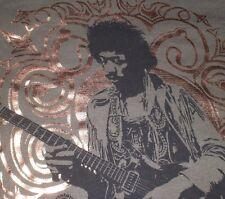 Jimi Hendrix T Shirt Playing Guitar Green Black LARGE Rock Music Long Sleeve