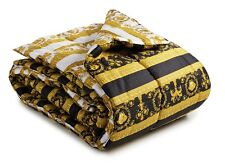 "VERSACE Baroque Medusa Comforter King Size 106"" x 106""  - quilted -"
