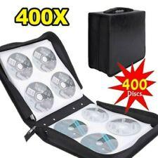 More details for 400 cd dvd disc album storage holder carry case wallet bag binder sleeve black