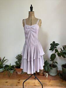 Vintage 1980s Ra Ra Skirt Corset Summer Dress, 10-12