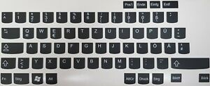 Deutsche Tastaturaufkleber für PC & Laptop