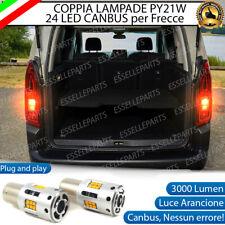 COPPIA LAMPADE PY21W CANBUS 35 LED CITROEN BERLINGO 3 FRECCE POSTERIORI NO ERROR