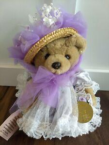 Bearly People Teddy Bear Robyn Rose Plush Dress Hat Fancy