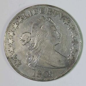 1805 US Draped Bust Early Silver Half Dollar Coin