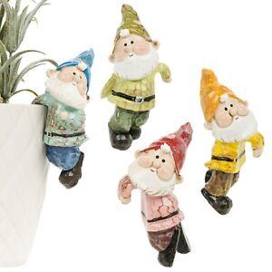4Pcs Hanging Flower Pot Gift Gnome Indoor Outdoor Garden Decoration Ornaments