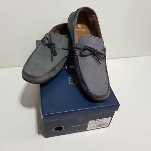 Howick BARIO KNIT DRIVER Blue Leather Casual Loafers SHOES UK 11 Boxed
