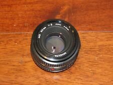Minolta MD Rokkor 50mm F2.0 MF Standard Lens GREAT CONDITION MADE IN JAPAN