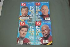 STAR TREK TURNS 30  - SET OF 4 COLLECTORS TV GUIDES - AUG 1996 COMPLETE