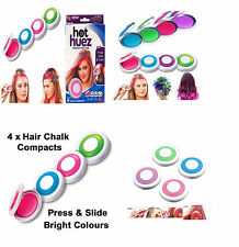 Hair Chalk fácil temporal no tóxica Cabello Tiza Dye suave vello Pasteles Kit 4colour