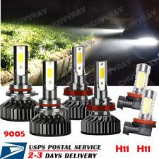 6x LED Headlight Bulbs + Fog Lights For Honda Accord 2008-2015 Mazda 6 2014-2017