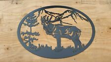 "Elk bugle metal 24"" wall art decor steel elegant home decor metal art"