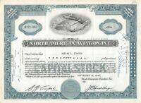 North American Aviation, Inc.  Capital Stock Certificate 1940-50's