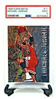 1996 Fleer METAL Bulls MICHAEL JORDAN IconicBasketball Card PSA 9 MINT / Low Pop