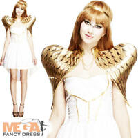 Fever Glamorous Angel Ladies Fancy Dress Nativity Christmas Womens Adult Costume