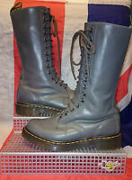 Classic 1B99 Calf High*14 Eyelet Grey Buttero Leather Dr Doc Martens*Grunge*UK 3