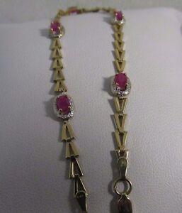 Natural Ruby Designer Bracelet 1.25ct. Petite. 7.25in long  SALE  #992