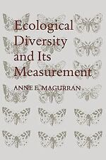 Ecological Diversity and Its Measurement by Anne E. Magurran (2012, Paperback)