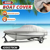 20-22ft 600D Boat Cover Waterproof Extra Heavy Duty Speedboat Fishing Ski V-Hull