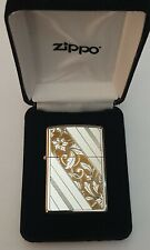 Vintage ZIPPO Silver Plate Stamped & 24ct Gold Plated, Double Sided, circa 1992
