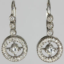 14K White Gold Earrings with Round Diamonds 0.65CT/CH