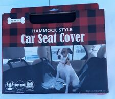 """Dog Pet Hammock Style Car-Suv Seat Cover Protector 56""""x54"""" Black Water resistant"""