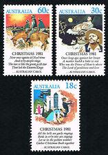 Australia Sc# 811 - 813 = 1981 Christmas Set of 3 = Mint Perfect Nh
