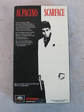 SCARFACE  Al Pacino & Michele Pfeiffer   MCA UNIVERSAL 2 VHS Boxed Set  1990